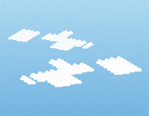 A graphical illustration of an altocumulus duplicatus cloud