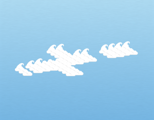 A graphical illustration of an altocumulus fluctus cloud