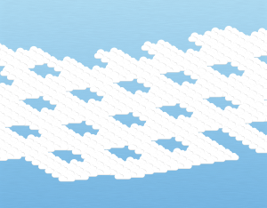 A graphical illustration of an altocumulus lacunosus cloud