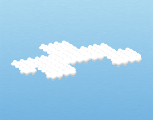 A graphical illustration of an altocumulus mamma cloud