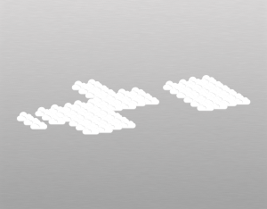 A graphical illustration of an altocumulus opacus cloud