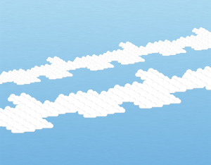 A graphical illustration of an altocumulus radiatus cloud