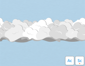 A graphical illustration of the cloud feature 'Asperitas'
