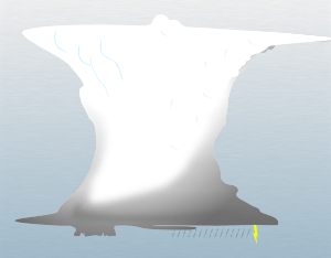 A graphical illustration of a cumulonimbus flumen cloud