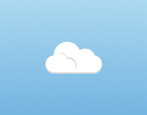 A graphical illustration of a cumulus cloud