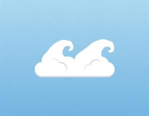 A graphical illustration of a cumulus fluctus cloud