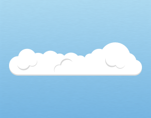 A graphical illustration of a cumulus humilis cloud