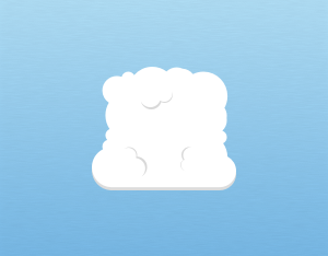 A graphical illustration of a cumulus mediocris cloud