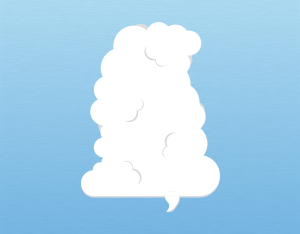 A graphical illustration of a cumulus tuba cloud