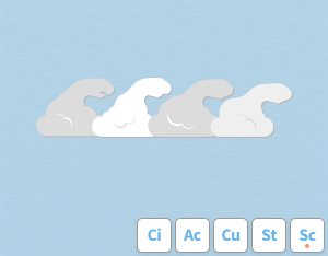 A graphical illustration of the cloud feature 'Fluctus'