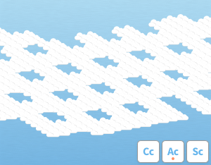 A graphical illustration of the cloud variety 'Lacunosus'