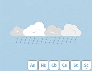 A graphical illustration of the cloud feature 'Praecipitatio'