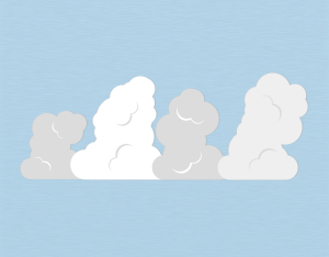 A graphical illustration of a stratocumulus castellanus cloud