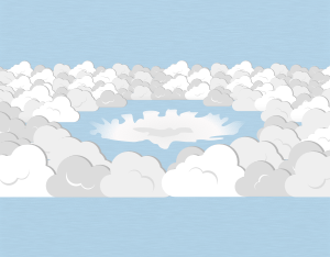 A graphical illustration of a stratocumulus cavum cloud