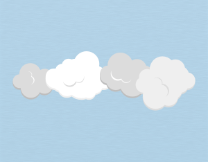A graphical illustration of a stratocumulus floccus cloud