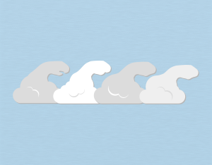 A graphical illustration of a stratocumulus fluctus cloud