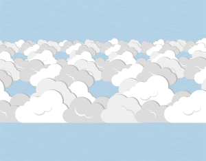 A graphical illustration of a stratocumulus lacunosus cloud