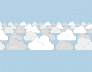 A graphical illustration of a stratocumulus perlucidus cloud