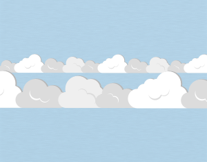 A graphical illustration of a stratocumulus radiatus cloud