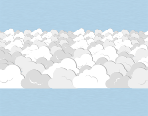 A graphical illustration of a stratocumulus stratiformis cloud