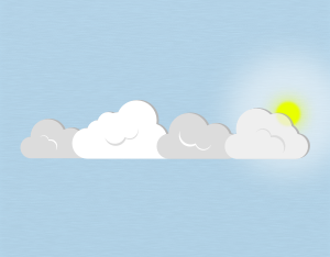 A graphical illustration of a stratocumulus translucidus cloud