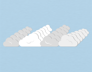 A graphical illustration of a stratocumulus undulatus cloud