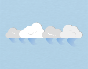 A graphical illustration of a stratocumulus virga cloud