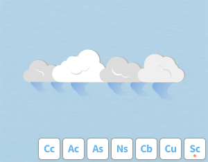 A graphical illustration of the cloud feature 'Virga'