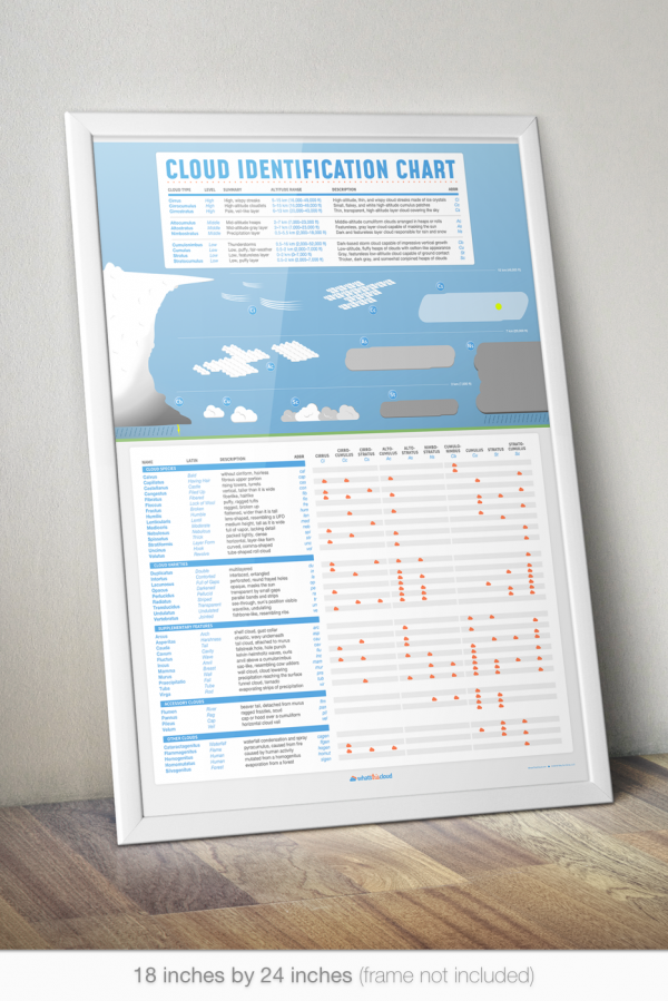 Cloud identification poster mockup