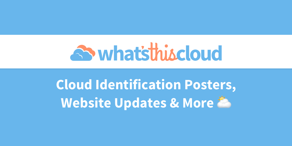 Cloud identification posters blog post